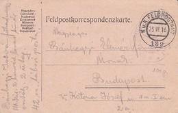 Feldpostkarte K.u.k. Feldpostamt 189 - 275. Honved - 1916 (33411) - Briefe U. Dokumente