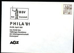 Bund PU111 D2/002 Privat-Umschlag ROLAND-DENKMAL BAD BRAMSTEDT 1981 - Monuments