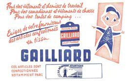 V  G/Buvard Vétements Galliard  (Format 21 X 14) (N= 1) - Blotters