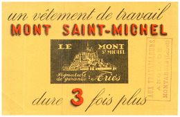 V  G/Buvard Vétements Mont Saint Michel  (Format 21 X 14) (N= 1) - Blotters