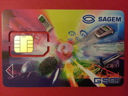 CARTE A PUCE SAGEM GSM SIM INTERNET - Unknown Origin