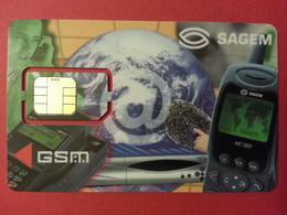 CARTE A PUCE SAGEM GSM SIM Internet Puce Prédécoupée - Phonecards