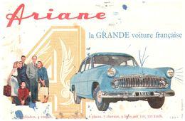 V  A/Buvard Ariane (Format 21 X 14) (N= 1) - Automotive