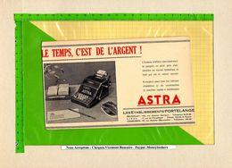 Buvard & Blotting Paper : Machine A Calculer ASTRA  Le Temps C'est De L'argent - Papeterie
