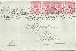 Ausland Brief  Alexandria - Bern  (Mehrfachfrankatur)          1923 - Egypt