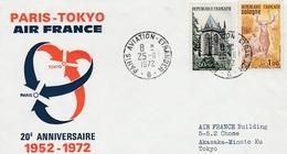 Paris Tokyo 1972 - Air France -  Japan - 20ème Anniversaire - Poste Aérienne