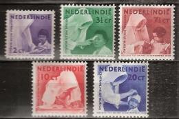 Ned Indie 1938 Missie. NVPH 241-245 Postfrisch/MNH/** - Nederlands-Indië