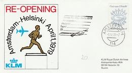 Amsterdam Helsinki 1979 KLM - Re-opening - Inaugural Flight Erstflug 1er Vol - Airmail