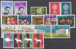 Suriname 1962 Year - Complete - MNH/**/Postfrisch - Suriname ... - 1975