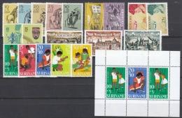 Suriname 1967 Year - Complete - MNH/**/Postfrisch - Suriname ... - 1975