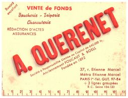 "V F Q/Buvard Vente De Fonds ""A Querenet"" (Format 13 X 10) (N= 1) - Buvards, Protège-cahiers Illustrés"