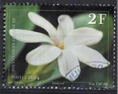 Tahiti 2014 Oblitéré Rond Used Fleur Tiaré Gardenia Taitensis SU - Tahiti