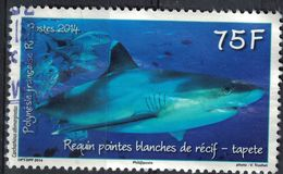 Tahiti 2014 Oblitéré Rond Used Requin Pointes Blanches De Récif Tapete SU - Tahiti