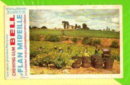 BUVARD & Blotting Paper : Chewing Gum Bell Les Vendanges  Serie 6 N°95 - Cake & Candy