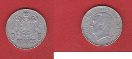Monaco  -  5 Francs 1945 -  Km # 122  -  état TTB - Monaco