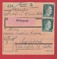 Colis Postal Départ Wirtsdorf -  22/9/1943 - Allemagne