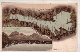 RIVA-TRENTO-LAGO DI GARDA-GRUSS MULTIVEDUTE-LITHO ANNO 1900-1904 - Trento