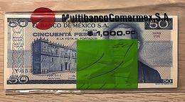 C) MEXICO BANK NOTE 1981 50 PESOS UNC SEAL BAG 20 PCS - Mexico