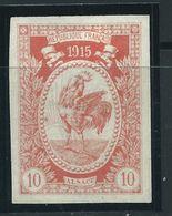 VIGNETTE PATRIOTIQUE DELANDRE - Coq Gaulois  - Propagande  WWI WW1 Cinderella Poster Stamp 1914 1918 Poultry - Vignettes Militaires