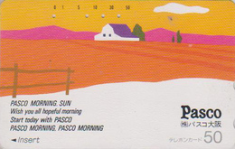 Télécarte Japon / 110-26139 - Peinture - Pasco Morning Sun - Painting Japan Phonecard / Teleca - Kunst TK - Landschaften