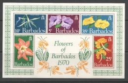 BARBADOS  1970  Flowers Of Barbados  MS   UM - MNH - Barbados (1966-...)