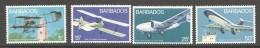BARBADOS  1973  Aircrafts  Set Of 4  UM - MNh - Barbados (1966-...)