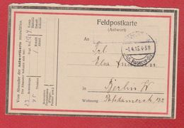 Feldpostkarte -  45 Res Div  -  1/4/1915 - Guerre 1914-18