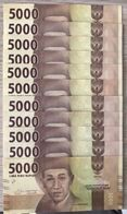 C) INDONESIA BANK NOTE 5000 RUPIAH UNC ND 2016 - 11 PCS - Indonesia