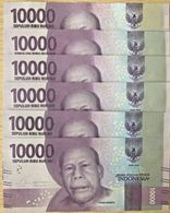 C) INDONESIA BANK NOTE 10,000 RUPIAHS UNC ND 2016 - 6PCS - Indonesia