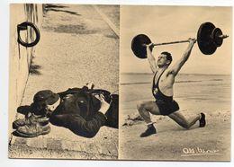 Photographe  Albert Monier-- Forces Opposés  ( Halthérophilie ,sieste ) - Monier