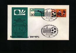 Deutschland / Germany 1974 World Football Championship In Germany FDC - Coppa Del Mondo