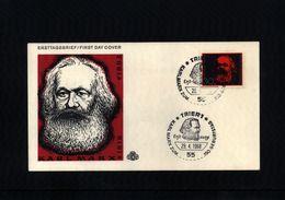 Deutschland / Germany 1968 Karl Marx FDC - Karl Marx