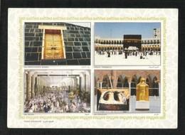 Saudi Arabia Picture Postcard Holy Kaaba Mecca Mosque 4 Scene View Card - Arabie Saoudite