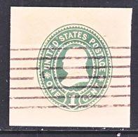 US CUT  SQUARE U  354   ORIENTAL  BUFF   (o)   1899  ISSUE - Postal Stationery