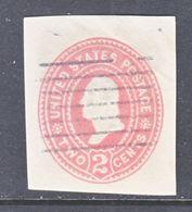 US CUT  SQUARE U  358   (o)   1899  ISSUE - Postal Stationery
