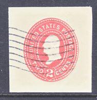 US CUT  SQUARE U  359   AMBER   (o)   1899  ISSUE - Postal Stationery
