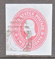 US CUT  SQUARE U  361  BLUE   (o)   1899  ISSUE - Postal Stationery