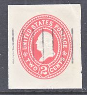 US CUT  SQUARE U  367   (o)   1899  ISSUE - Postal Stationery