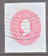 US CUT  SQUARE U  370   BLUE   (o)   1899  ISSUE - Postal Stationery