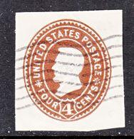 US CUT  SQUARE U  371      (o)   1899  ISSUE - Postal Stationery