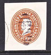 US CUT  SQUARE U  374      (o)   1899  ISSUE - Postal Stationery