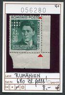Rumänien - Roumenie - Rumania - Romania - Michel 680 - ** Mnh Neuf Postfris - Fehlendes Zahnloch - Errors, Freaks & Oddities (EFO)