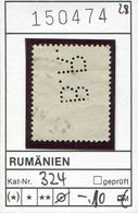 Rumänien - Roumenie - Rumania - Romania - Michel 324 - 7 Perfins - Oo Oblit. Used Gebruikt (4 Mängel/defects/defaut) - Varietà & Curiosità