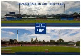 2) AK Linzer Stadion Postkarte FC Blau-Weiß Linz BW Österreich Fußball SK VÖEST Fußball Football Ground Stade - Fussball