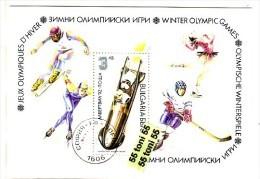 1991 OLYMPIC GAMES Arbelville 92 S/S Imperf.- (used/oblitere)  BULGARIA / Bulgarie - Bulgaria