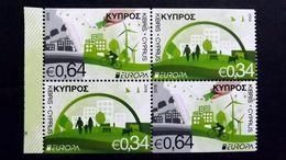 Zypern 1348/9 DD **/mnh, EUROPA/CEPT 2016, Umweltbewusst Leben - Cyprus (Republic)