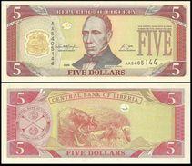 Liberia 5 Dollars 2005 UNC - Liberia
