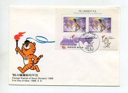 SPORTS FDC COVER KOREA 1988 POSTAGE STAMPS OF SEOUL OLYMPICS Mi #1559x2 BL.544 - Ete 1988: Séoul