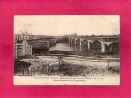 33 Gironde, Coutras, Perspective Des Deux Ponts Du Chemin De Fer Sur L'Isle, 1922 - France