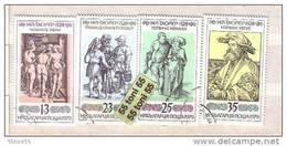 1979 WORLD PAINTINGS- DURER 4v.- Used/oblit.(O) BULGARIA / Bulgarie - Bulgarien